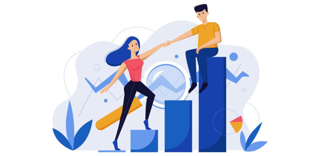 representación de crecimiento empresarial